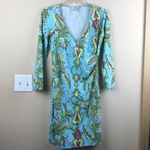 Jude Connally Diane Faux Wrap Dress Paisley Floral